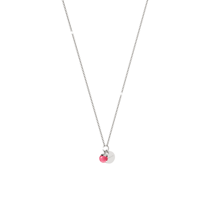 REBECCA Hollywood Stone Necklace - One Stone Cranberry