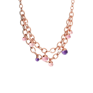 REBECCA Hollywood Rose & Purple Necklace