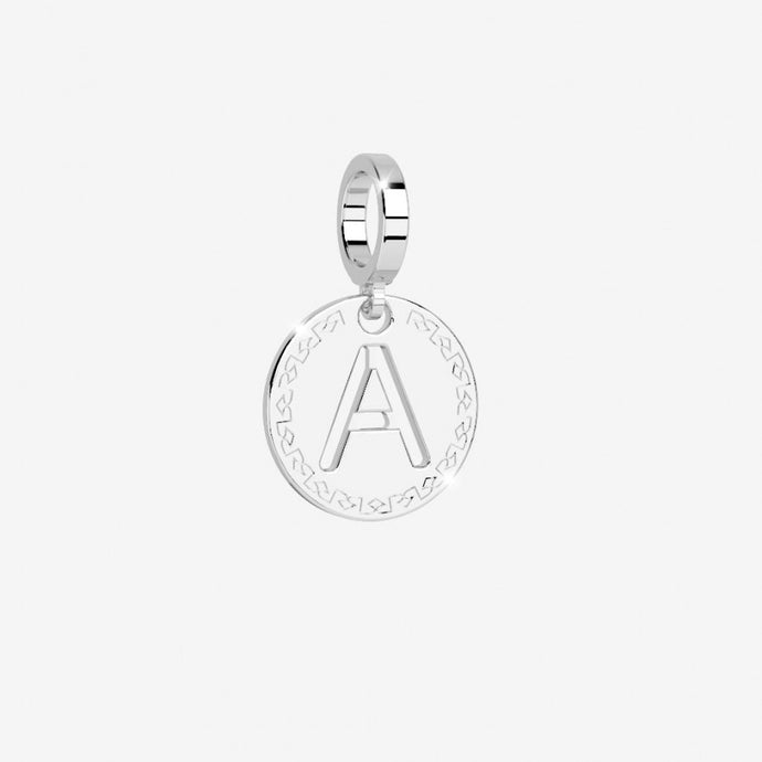 REBECCA Silver Letter Pendant and Chain