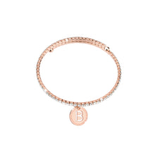 Load image into Gallery viewer, REBECCA MyWorld Letter Bangle - Rose Initial
