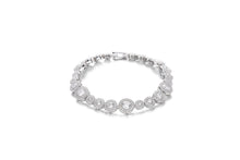 Load image into Gallery viewer, Silver CZ Halo Line Bracelet 18cm