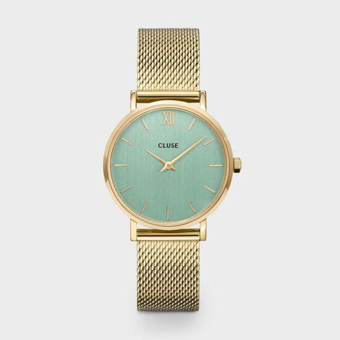 CLUSE Minuit Mesh Gold/Stone Green