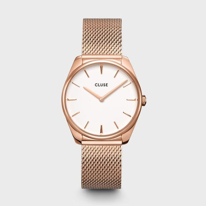 CLUSE Féroce Mesh Rose Gold/White