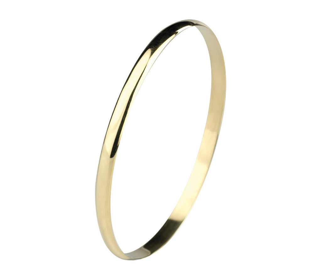 9ct Gold Classic Solid Polished Bangle 4.75mm