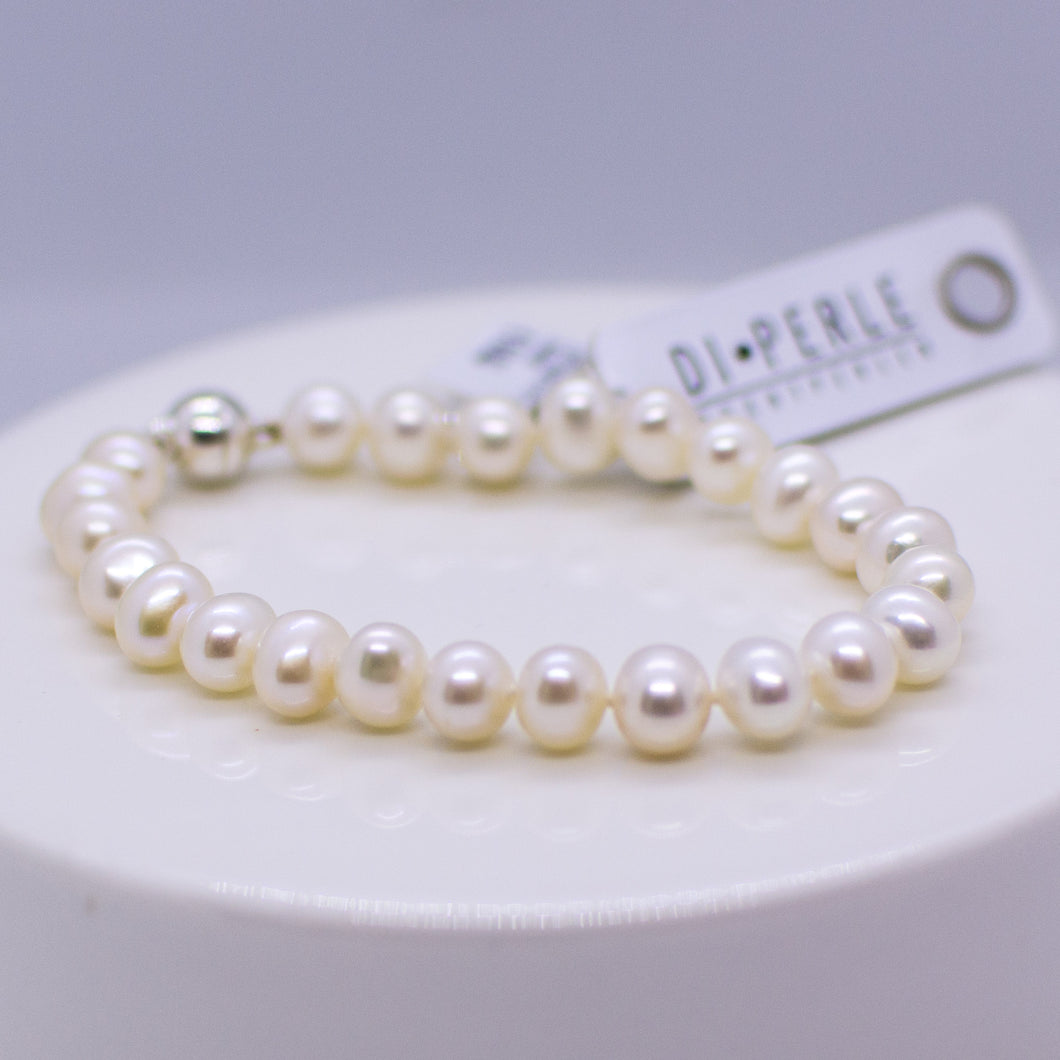 Cultured Freshwater Pearl Bracelet - 7-8mm|19cm