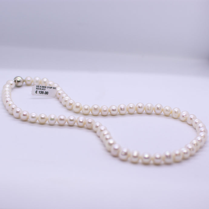 Cultured Freshwater Pearl Necklace - 8-9mm|50cm
