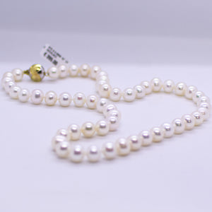 Cultured Freshwater Pearl Necklace - 9mm|18""