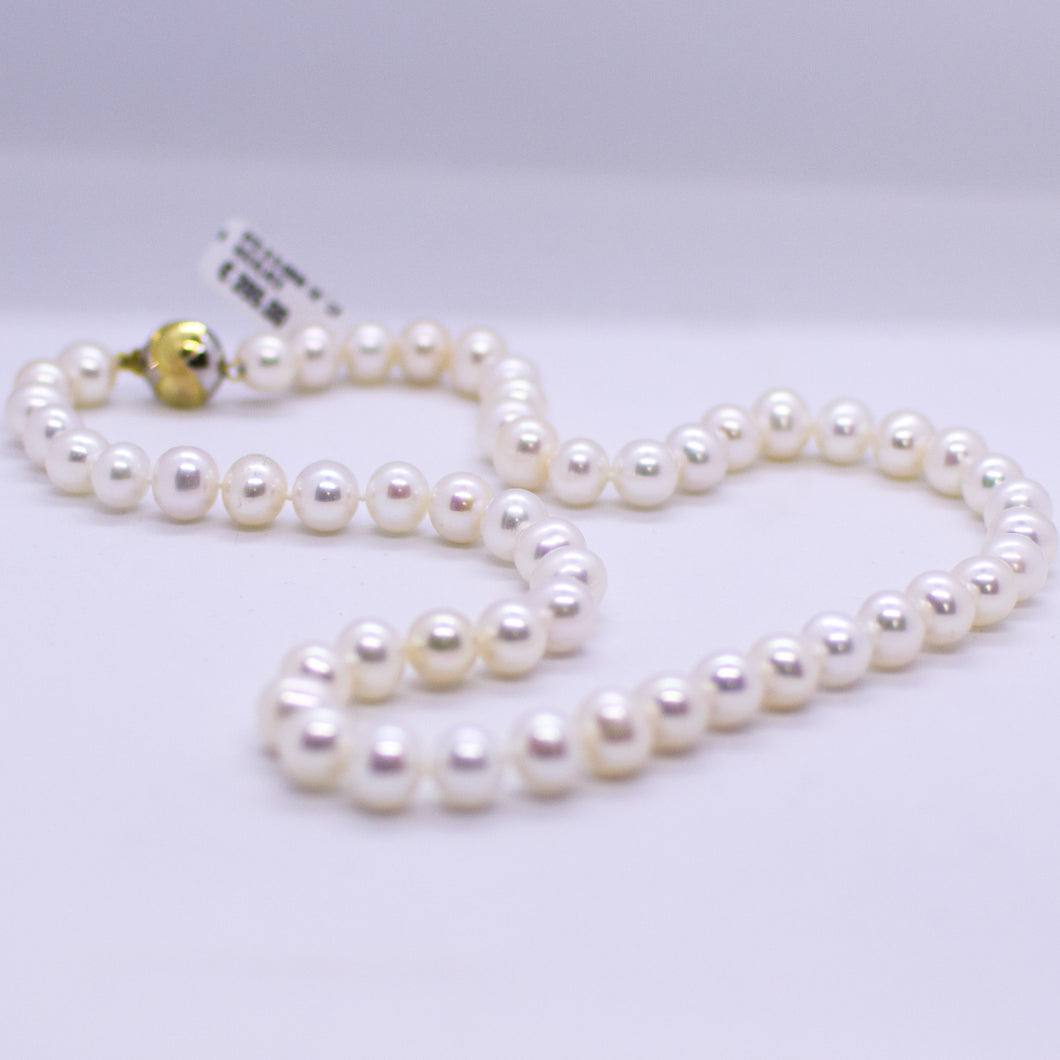 Cultured Freshwater Pearl Necklace - 9mm|18