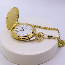 Load image into Gallery viewer, Gold Full Hunter Pocket Watch
