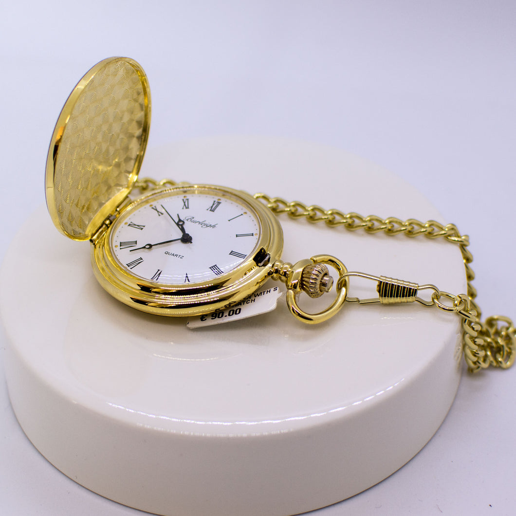 Gold Full Hunter Pocket Watch