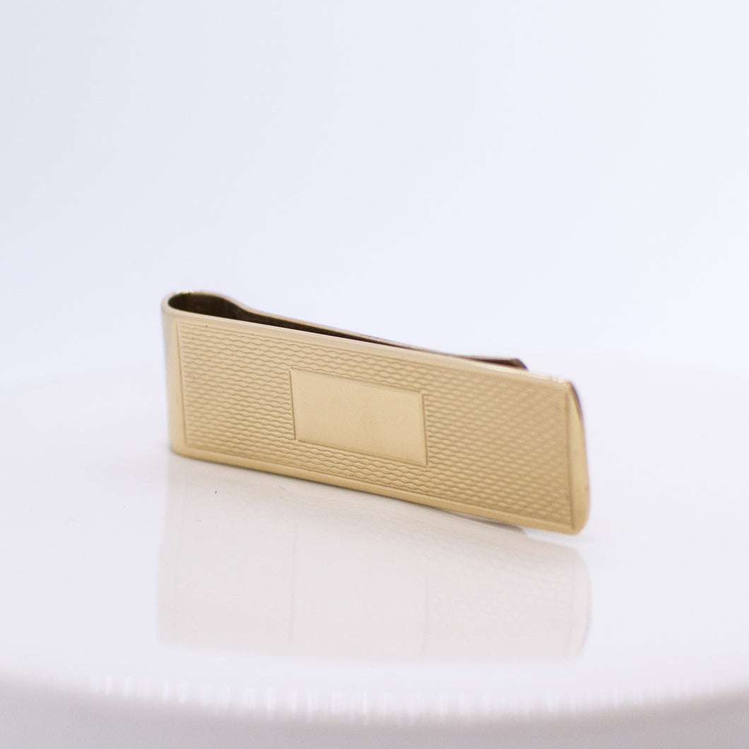 9ct Gold Patterned Money Clip