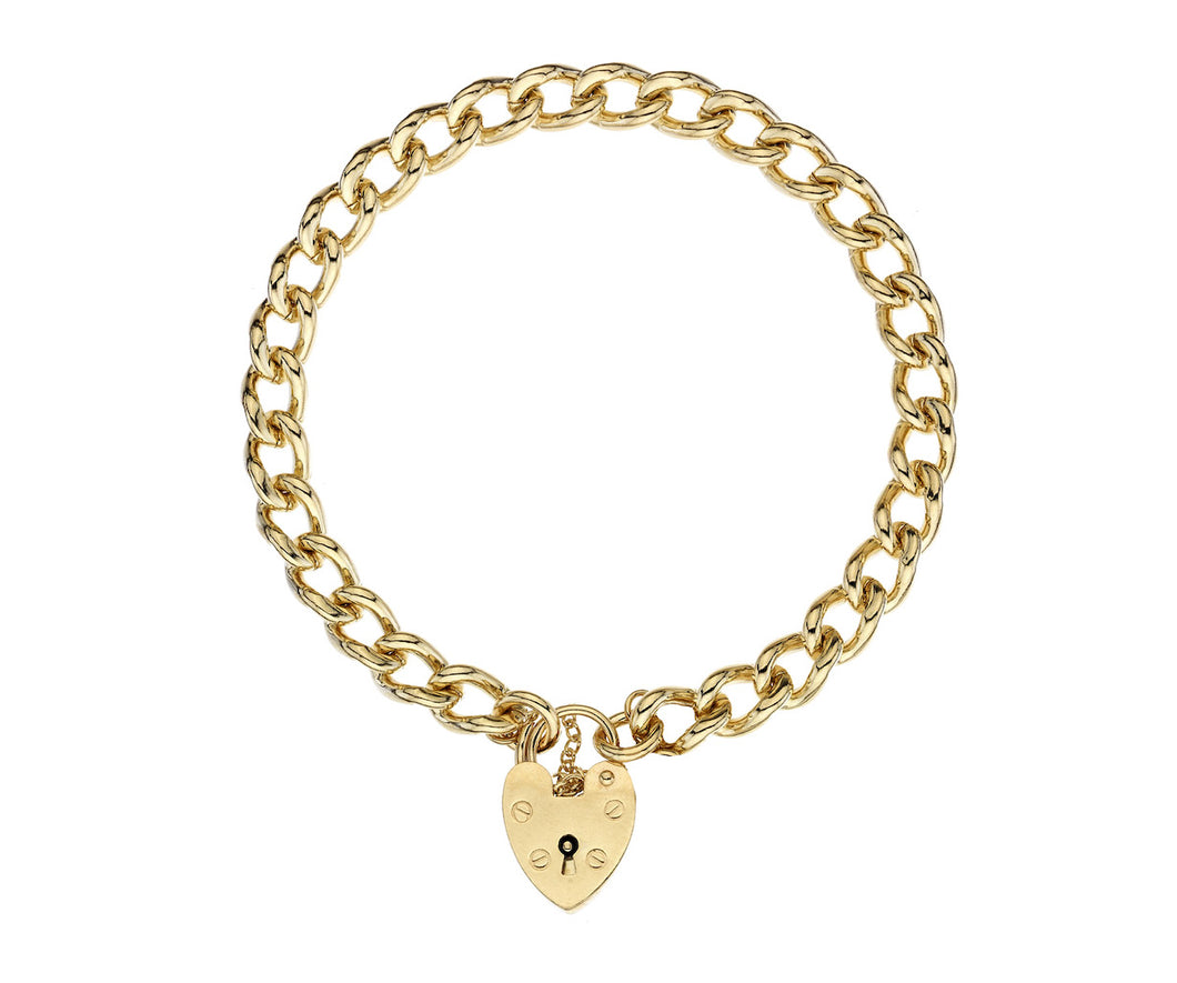 9ct Gold Heavy Charm Bracelet