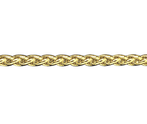9ct Gold Heavy Braided Curb Bracelet