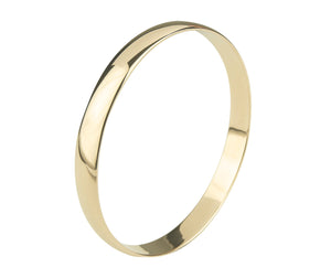 9ct Gold Classic Solid Polished Bangle