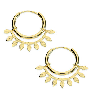 SUNSHINE Aztec Hoop Earrings