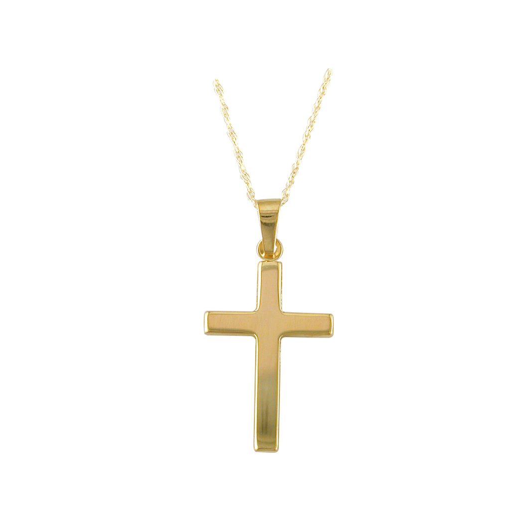 9ct Gold Polished Cross Necklace