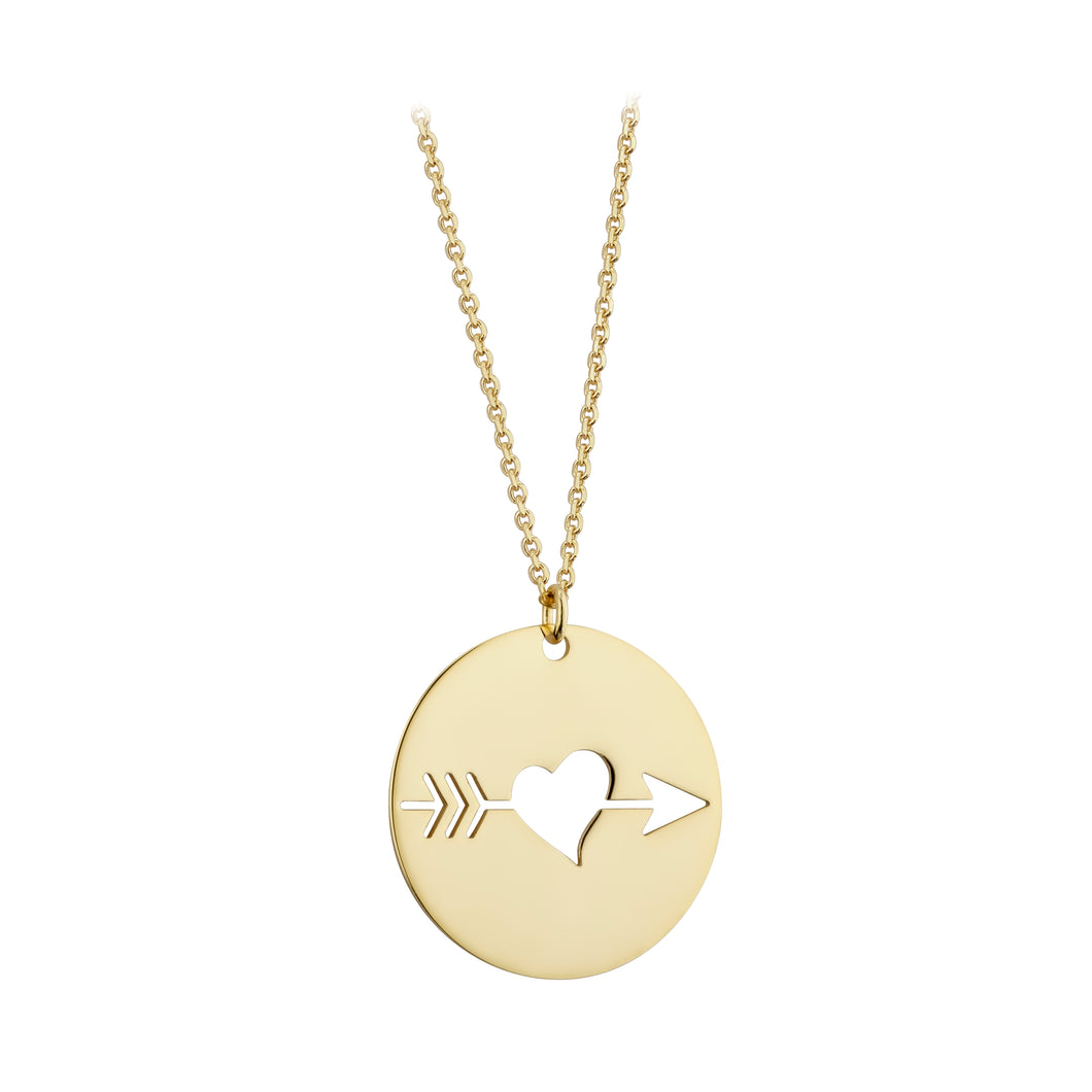 9ct Gold Cupid Necklace