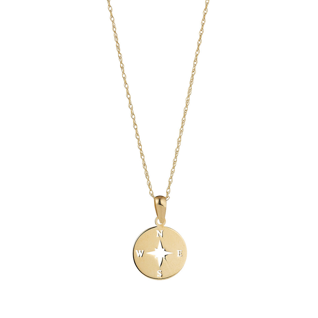9ct Gold Compass Necklace