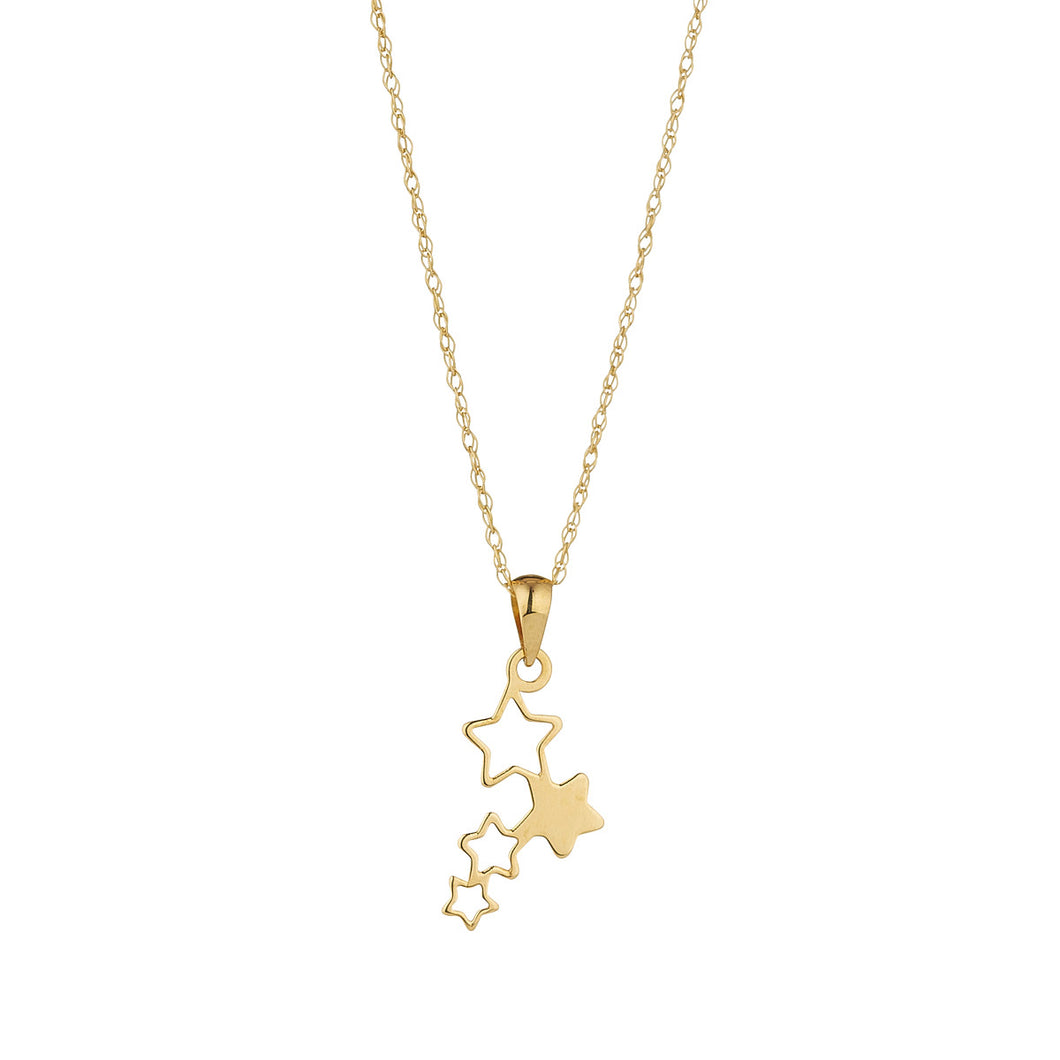 9ct Gold Falling Stars Necklace