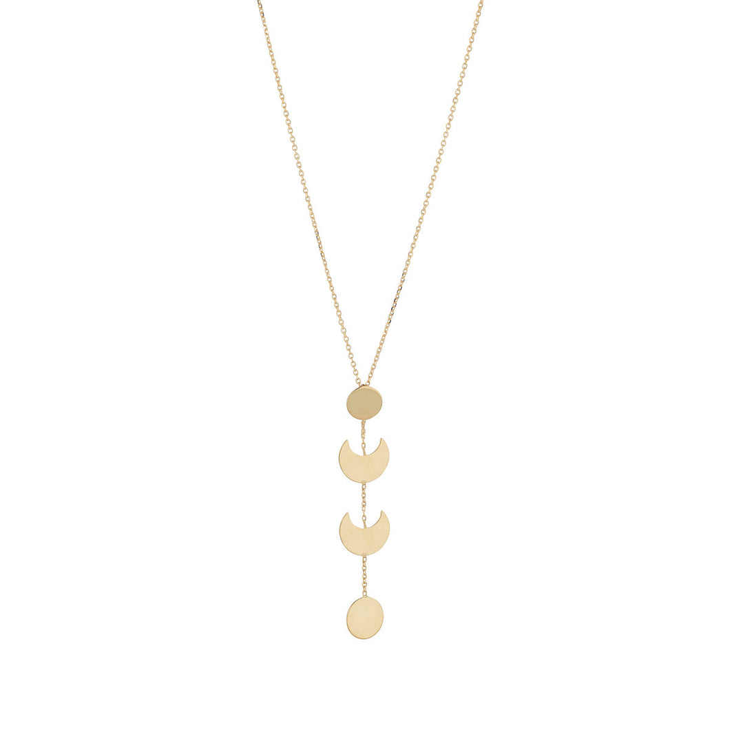 9ct Gold Moon & Half Moon Necklace
