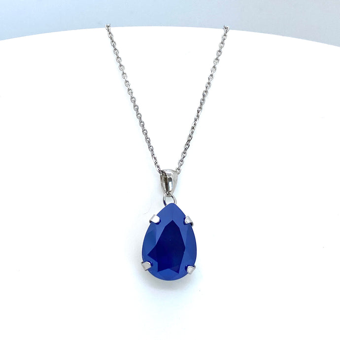 Victoria Cruz Celeste Royal Blue Necklace