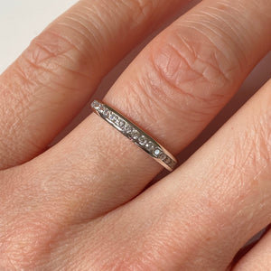 14ct White Gold CZ Channel Set Ring