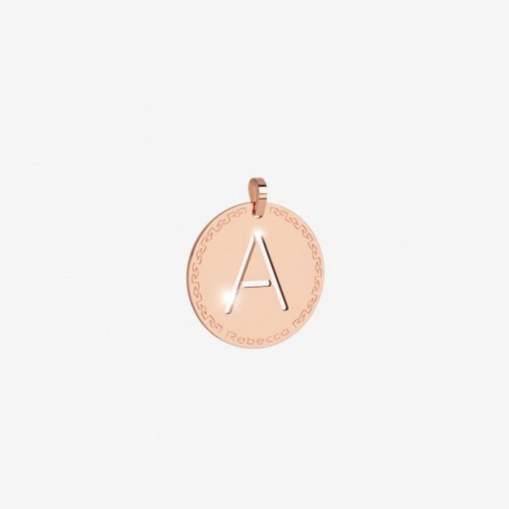 REBECCA MyWorld Letter Necklace - Rose|Medium Initial