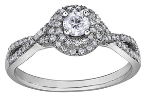 18ct White Gold Love Forever Solitaire Engagement Ring