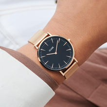 CLUSE La Bohème Mesh Rose Gold Black/Rose gold