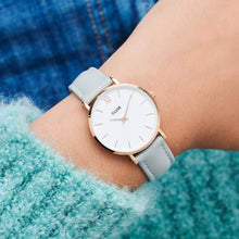 Load image into Gallery viewer, CLUSE Minuit Rose Gold White/Grey