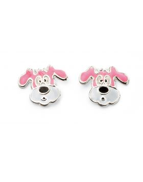 Pink Puppy Earrings