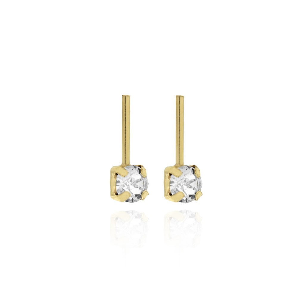 Victoria Cruz Crystal Bar Earrings