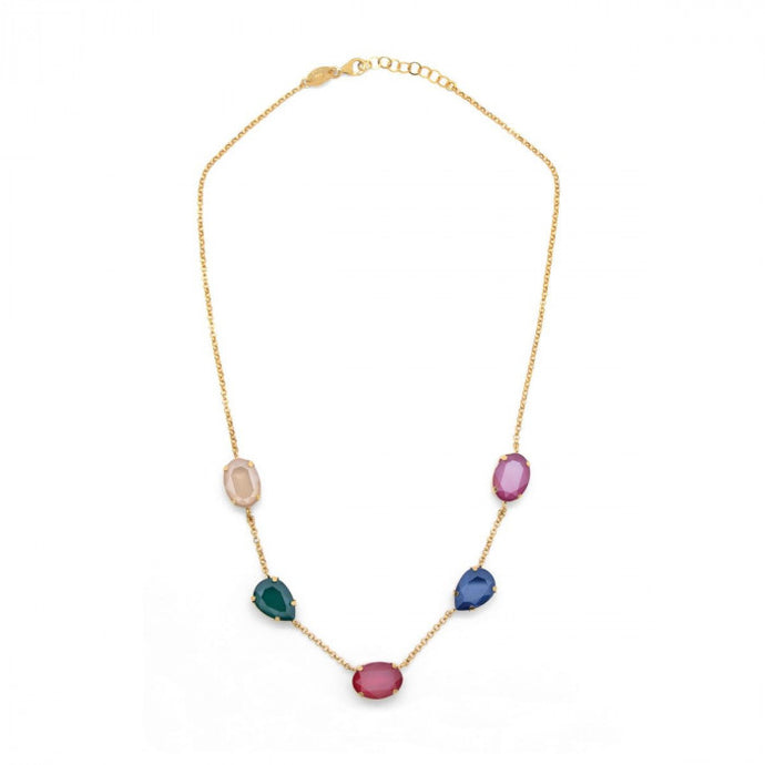 Victoria Cruz Celeste Multicolour Necklace