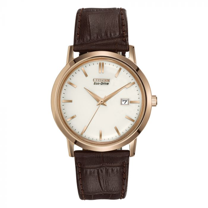 Citizen Ecodrive Leather Watch