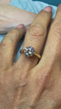 Load and play video in Gallery viewer, 9ct Gold CZ Solitaire Ring