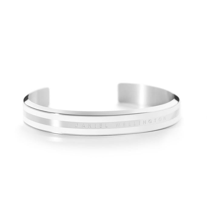 Daniel Wellington Classic Silver Satin White Bangle