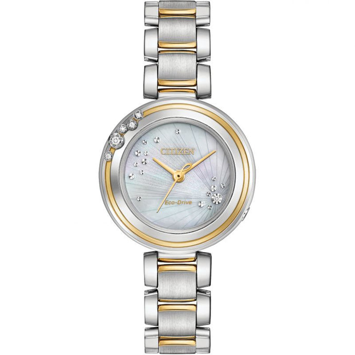 Citizen Two-Tone Diamond Ecodrive Ladies Watch