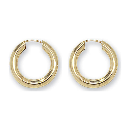9ct Gold 12mm Thick Sleeper Earrings