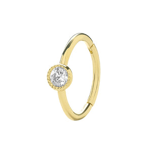 Ear Candy 9ct Gold CZ Cartilage Hoop