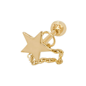 Ear Candy 9ct Gold Star Wrap Cartilage Stud