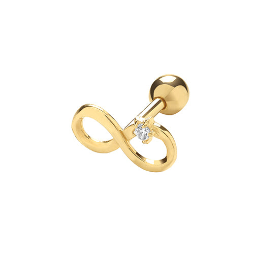 Ear Candy 9ct Gold Infinity Cartilage Stud