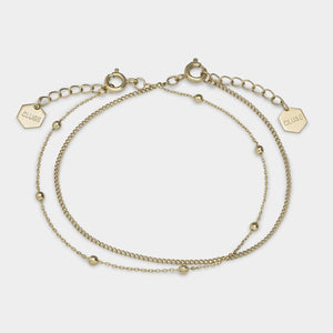 CLUSE Essentielle Gold Set of Two Fine Bracelets