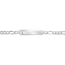 Load image into Gallery viewer, Silver 3+1 Figaro Identity Bracelet