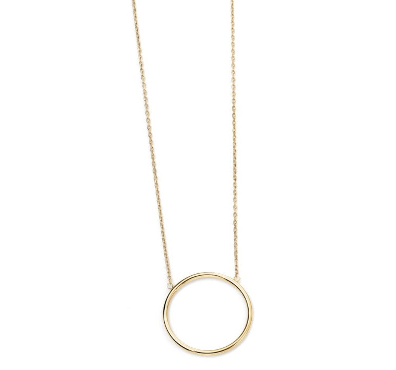 9ct Gold Open Circle Necklace