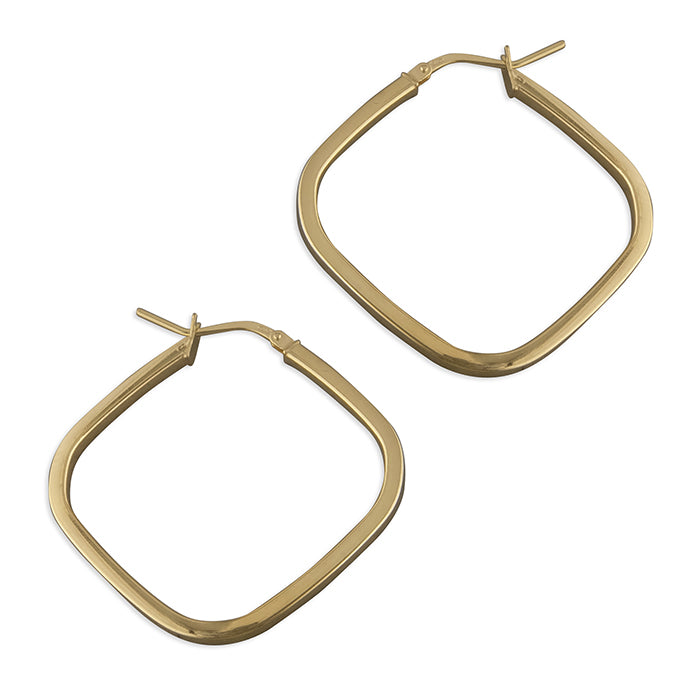 SUNSHINE Square Offset Hoop Earrings