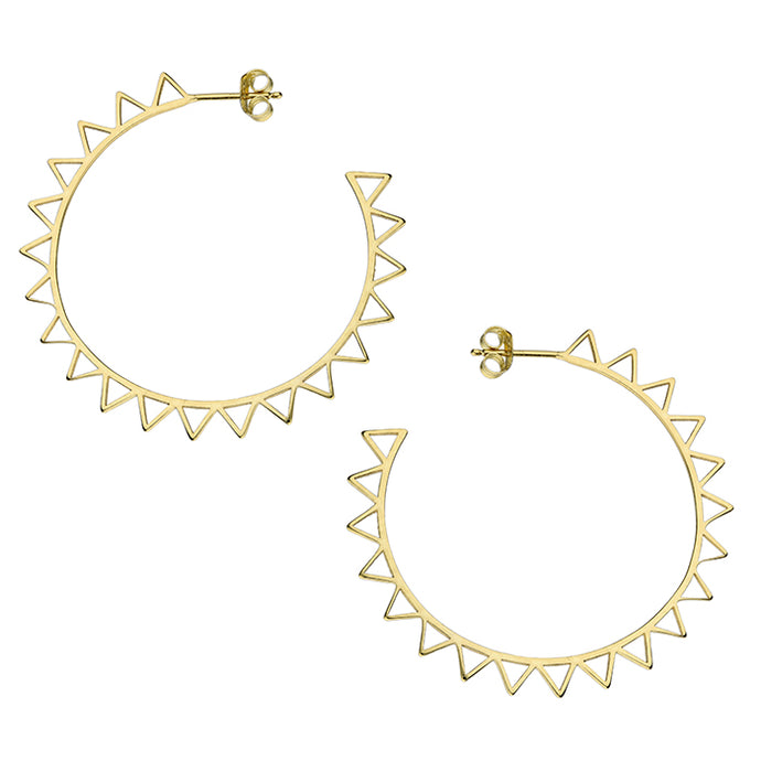 SUNSHINE Large Hoop Earrings