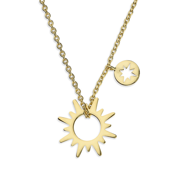 SUNSHINE Sun & Compass Necklace