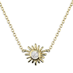 SUNSHINE CZ Sun Necklace