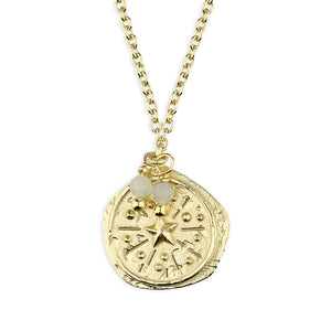SUNSHINE Antique Style Coin Necklace