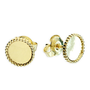 SUNSHINE Beaded Disc Stud Earrings